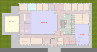 """Wakulla County Emergency Operation Center"" - The Hammond Design Group, LLC was contracted in 2020 to design an emergency operation center for Wakulla County.   This building is designed to act as a central command and control facility responsible for carrying out the principles of emergency preparedness and emergency management.  Additionally, the 911 dispatch center was incorporated as a program element. It is designed to withstand a Category 5 hurricane and serves as a shelter for County leaders when an emergency or the threat of an emergency occurs.  The facility is comprised of reception area, offices, operations room, 911 dispatch center, breakroom, IT room, radio room, men and women toilet areas, and showers."